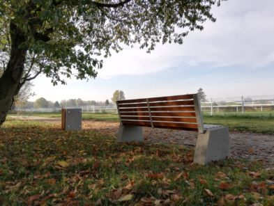 img: Nowe ławki wokół ścieżki pieszo-biegowej
