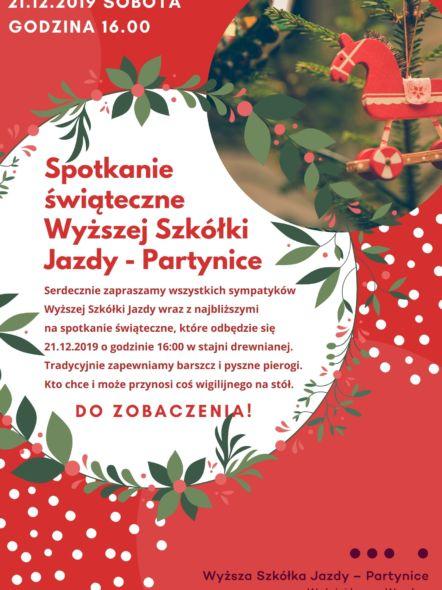 img: Spotkanie świąteczne Wyższej Szkółki Jazdy Konnej – Partynice