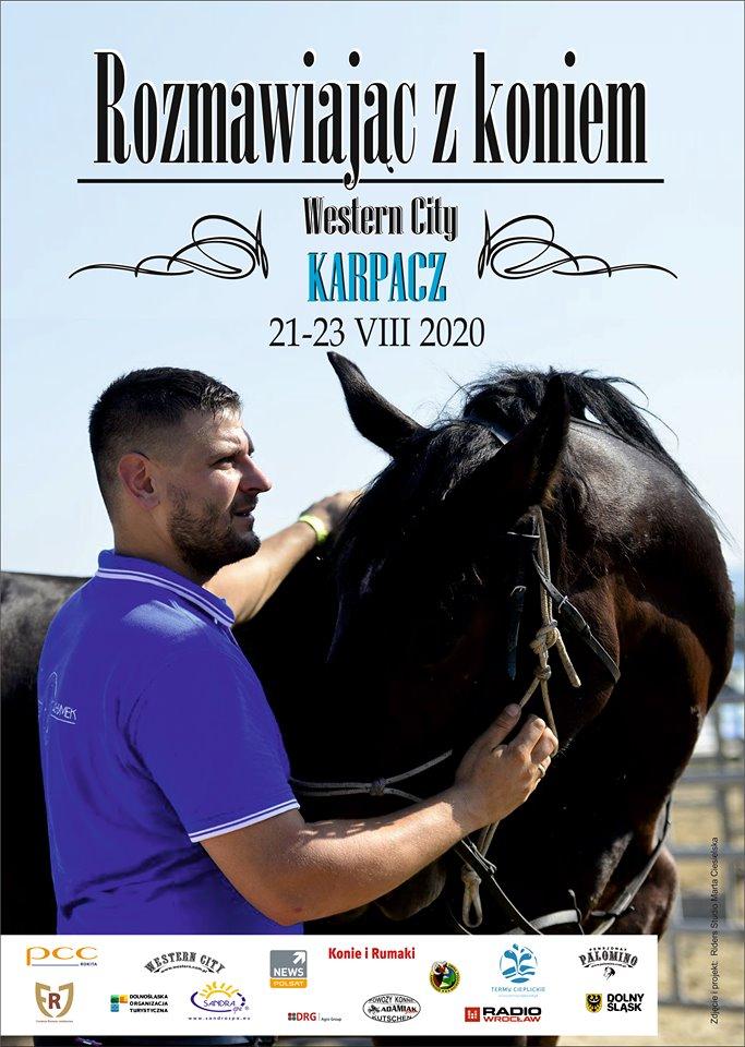 """img: """"Rozmawiając z koniem"""" – Karpacz Western City 21-23.08.2020"""