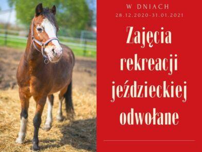 img: Odwołane zajęcia rekreacji jeździeckiej